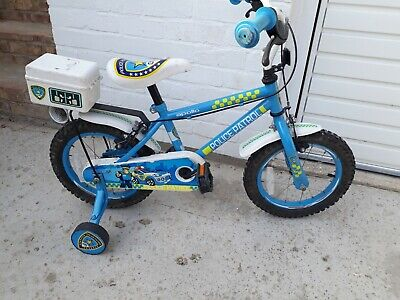 Apollo Kids Police 14  Bike Blue With Stabilisers  • 9£