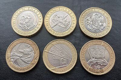 Rare £2 Two Pound Coin Job Lot Bundle Olympic And Shakespeare Full Sets 1day Auc • 10.24£