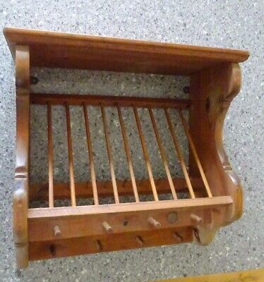 Used - Penny Pine Wooden Plate And Mug/cup Rack  • 45£