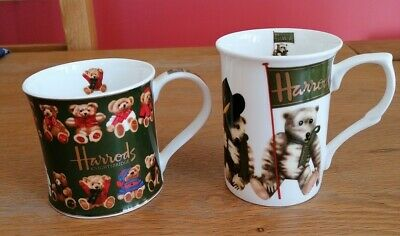 Harrods Knightsbridge Teddy Mugs, Both In VGC • 5.50£