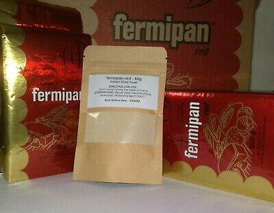 100g Fermipan Red Instant Dried Yeast Baking Bread Making Catering FREE P+P • 2.75£
