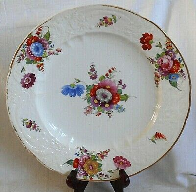 Early C19th John Rose Coalport Hand Painted Plate Sprays Of Flowers & Moulding • 10£