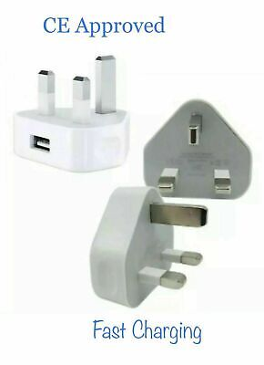 £3.99 • Buy Triangle UK USB Wall Plug Charger Adapter White For Iphone 5, 6, 7, 7p, 8, 8p,X