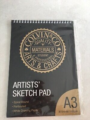 Colvin & Co Arts & Crafts Artists Sketch Pad A3 Spiral Bound, Perforated White  • 3.90£
