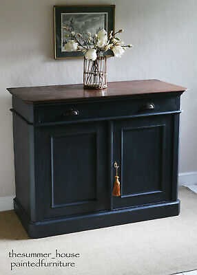 Large French Antique Vintage Painted Cupboard, Sideboard, Buffet, Storage • 595£