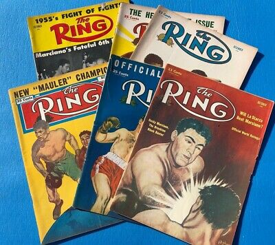 $19.95 • Buy The Ring Vintage Lot 1950's Boxing Magazines; Rocky Marciano On Covers