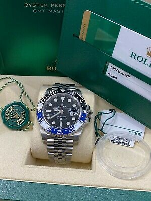 $ CDN21598.92 • Buy Rolex GMT Master II 126710BLNR Batman Jubilee Stainless Steel Box Paper 2019