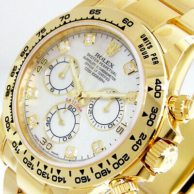 $ CDN55336.06 • Buy Rolex Daytona 116508 Yellow Gold White Mop Diamond Mother Of Pearl 116508 Oyster