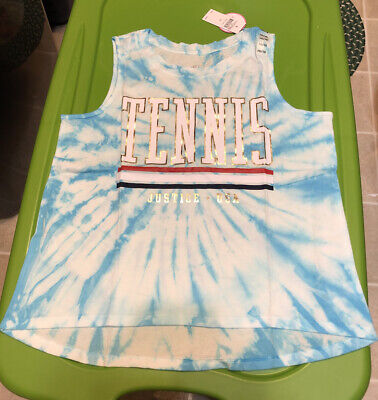 £13.49 • Buy NWT Justice Girls Tennis Tank Top Size 14/16