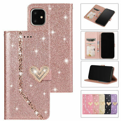 AU16.99 • Buy Bling Glitter Sparkly  Flip Wallet Case Cover For IPhone 11 Pro XS Max XR 8 Plus