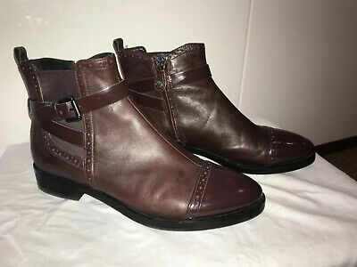Geox Respira Burgundy Brown Ankle Boots Size Uk 7 (40) Worn Once • 10.50£