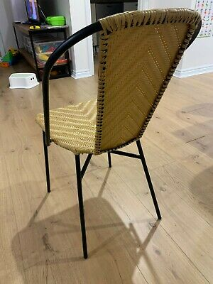 AU120 • Buy 4 X Wicker Dining Chairs Suitable For Cafe Or Home