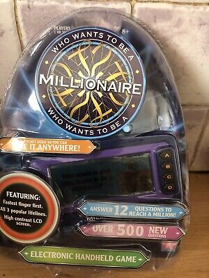 Who Wants To Be A Millionaire. Electronic Handheld Game. New But Been Opened. • 5£
