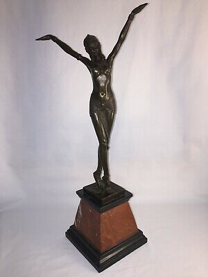 Art Deco Bronze Dancing Lady Stamped  D H CHIPARUS . • 260£