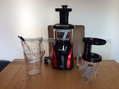Tribest Slowstar Vertical Slow Juicer In Red • 50£