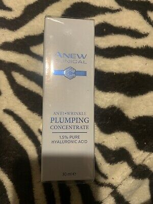 Avon Anew Clinical Anti-Wrinkle Plumping Concentrate ~ 1.5% Pure Hyaluronic Acid • 7.90£