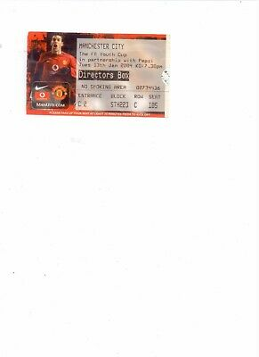 2003/04 MANCHESTER UNITED V MANCHESTER CITY YOUTH CUP TICKET STUB • 1.99£