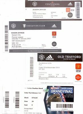 2019/20 4 X Ticket Stubs - Manchester United / Old Trafford • 1.99£