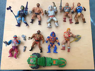 $49.99 • Buy Masters Of The Universe He-man Lot Of 9 Action Figures And Road Ripper Vehicle