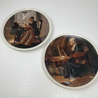 $ CDN24 • Buy Norman Rockwell Mothers Day Series Collector Plates Lot 1979,1980 Reflections