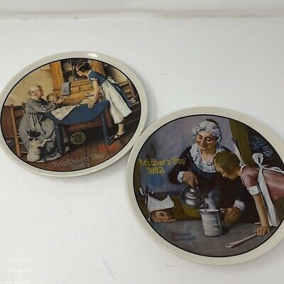 $ CDN24 • Buy Norman Rockwell Mothers Day Series Plates Lot 1982, 1983 Cooking Lesson