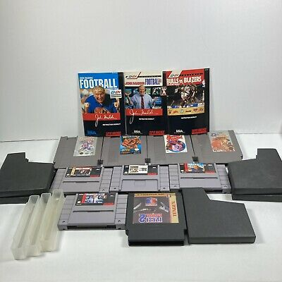$ CDN35.65 • Buy Lot Of 9 Sports Games NES/SNES - Basketball, Baseball Etc Authnetic Tested