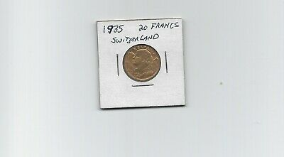 $495 • Buy 1935-LB Swiss Helvetia Gold 20 Franc Coin