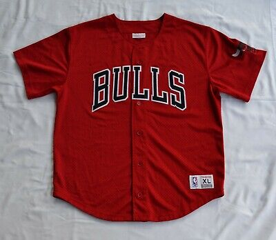 AU60 • Buy Chicago Bulls NBA Basketball Jersey XL Mitchell And Ness Button Up RARE Pro Mesh