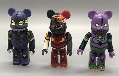 $89.99 • Buy Rare Evangelion Eva 100% Bearbrick MEDICOM Type Unit 1+2+13 3pcs Authentic USsel