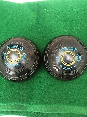 Pair Of Almark Clubmaster Bowls Size 2 Stamped 02 • 22£
