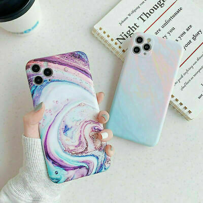 AU8.99 • Buy Colorful Granite Marble Silicone Case Cover For IPhone 11 Pro Max XR 8 7 Plus XS