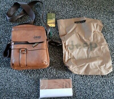 Mens JEEP Leather,man Bag/travel Bag,with Wallet(BNWT) • 14.99£