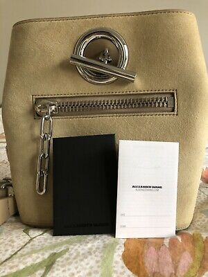 AU375 • Buy Alexander Wang Suede Beige Bucket Bag RRP $1200+