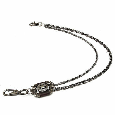 Men's Brown Iron Star Wallet Chain Biker Trucker Punk Heavy Metal Jean Chain UK • 13.54£