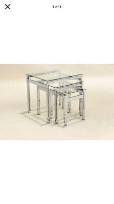 Glass Chrome Nest Of Tables • 4.50£