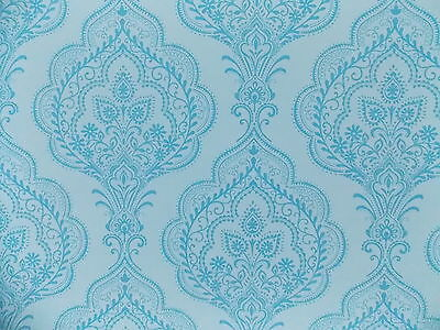 Fd40685 Fine Decor Charlotte Blue Damask Quality Feature Paste The Wal Wallpaper • 6.99£