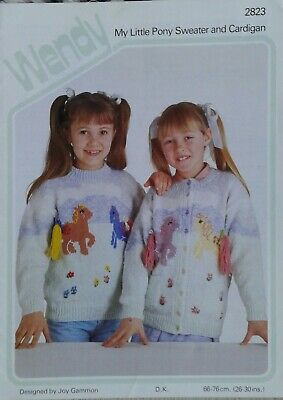 Wendy My Little Pony Sweater / Cardigan Knitting Pattern  Size 26  - 30  2823 Dk • 2.50£