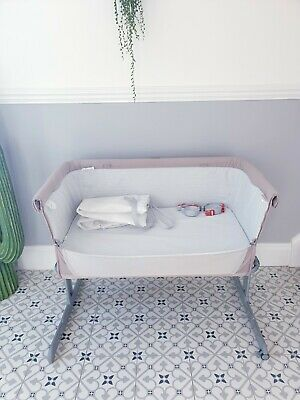 Chicco Next2me Bedside Crib Adjustable Height Side Sleeping Cot • 65£