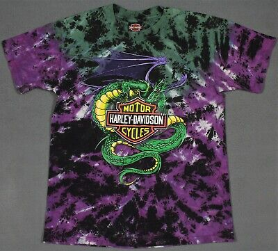 $ CDN200 • Buy Harley-Davidson Vintage USA Dragon Tie Dye Single Stitched T-Shirt Medium