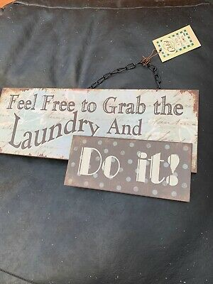 Feel Free And Do It Laundry Sign Plaque • 0.99£