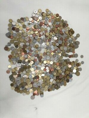 4.65kg Job Lot Of Mixed World Foreign & UK Coins Sold As Seen • 31£