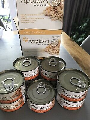 APPLAWS Natural Cat Food Chicken Flavour 9 Cans X 70 Grams • 4.99£