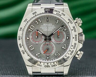 $ CDN36710.82 • Buy Rolex 116519 GREY Daytona 116519 18K White Gold / Grey Dial FULL SET