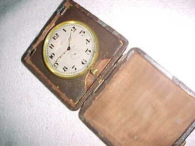 AU707.98 • Buy TIFFANY & CO  -  LEATHER CASED TRAVEL 8 DAY CLOCK   -  1930-50s