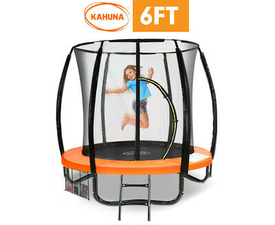 AU522.90 • Buy Kahuna Classic 6ft Trampoline Orange Outdoor Enclosure Safety Net Trampolines