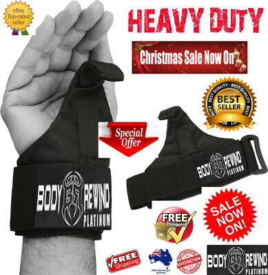 £6.84 • Buy WEIGHT LIFTING POWER HOOKS For Grip DEADLIFT STRAPS Gym Wrist Support HEAVY DUTY