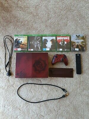 AU499 • Buy Microsoft Xbox One S Gears Of War Limited Edition 2 TB Console + Extras