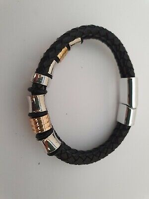 Men's Bracelet ANA Collection  Fashion Jewelry Double Gold/Silver • 8.26£