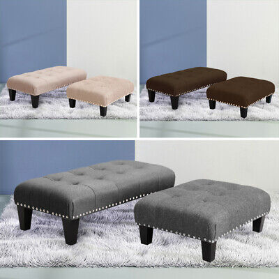 Bedroom Lounge Ottoman Pouffe Fabric Bench Foot Stool Seat Chair Rest Footstool • 33.95£