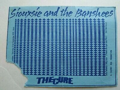 The Cure / Siouxsie And The Banshees Gig Ticket 22.9.79 • 6£